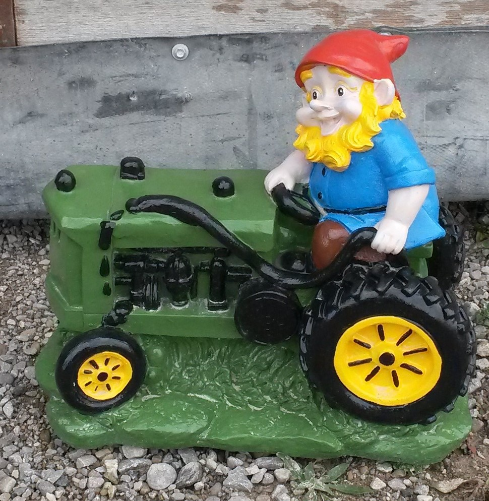 Elf on Tractor