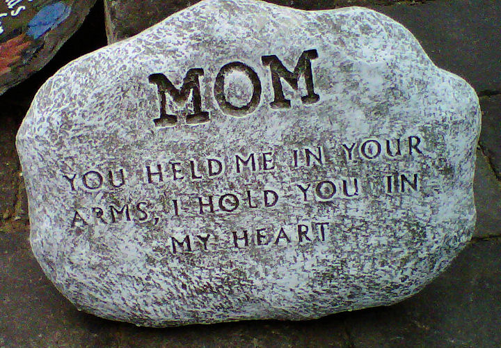 Mom-Forever in My Heart Plaque