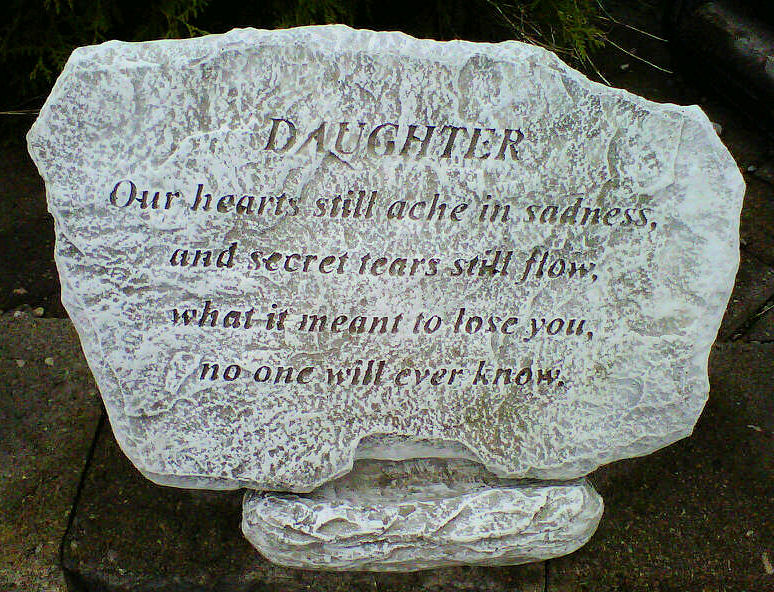Our Hearts Ache Daughter Plaque