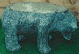 Bear Coffee Table (Black Marble)