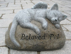 Beloved Pet Cat stone (Detailed Finish)