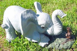 Elephant with Mouse (Detailed Finish)