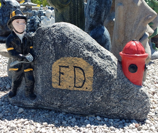 Fireman with Hydrant Plaque