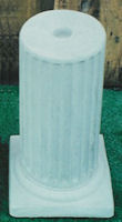 Fluted Bottom Pedestal