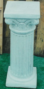2pc. Fluted Pedestal