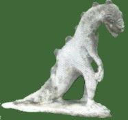 Life Size Standing Dinosaur 600 pounds (Natural Finish)