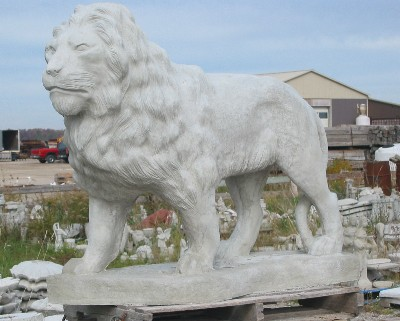Life Size Standing Lion