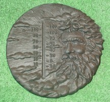 North Wind Thermometer Plaque