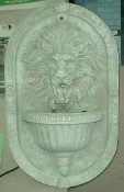 Mythical Lion Face Wall Fountain