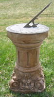Victorian Column Scroll Base with Sundial