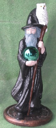 Large Wizard with globe